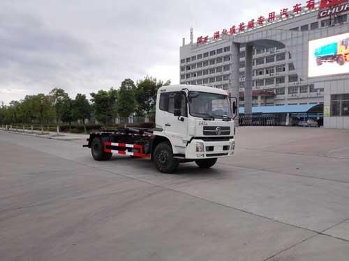 东风天锦LNG CNG车厢可卸式垃圾车